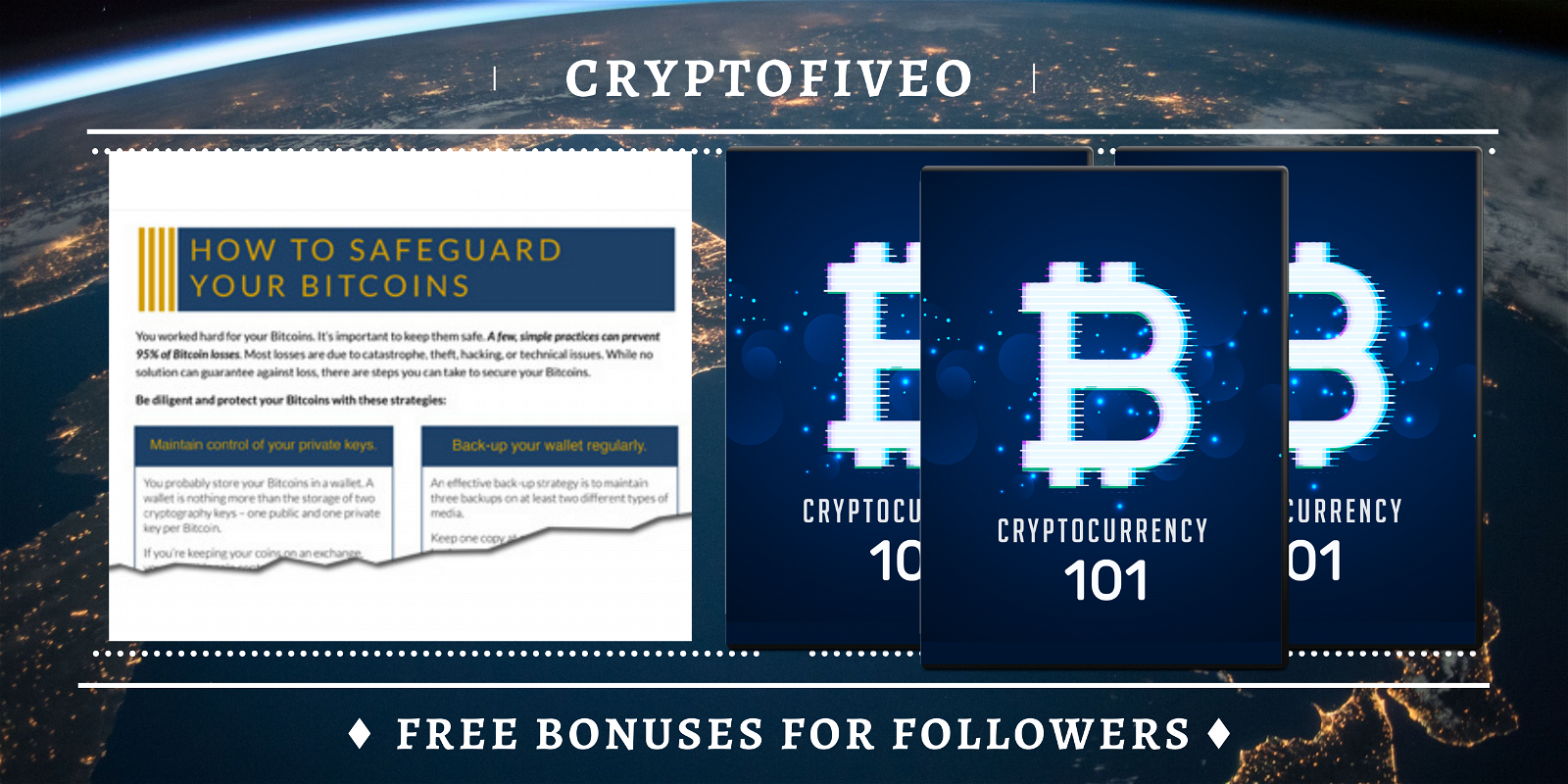 Follow blog via email and receive two free products from the cryptocurrency world.