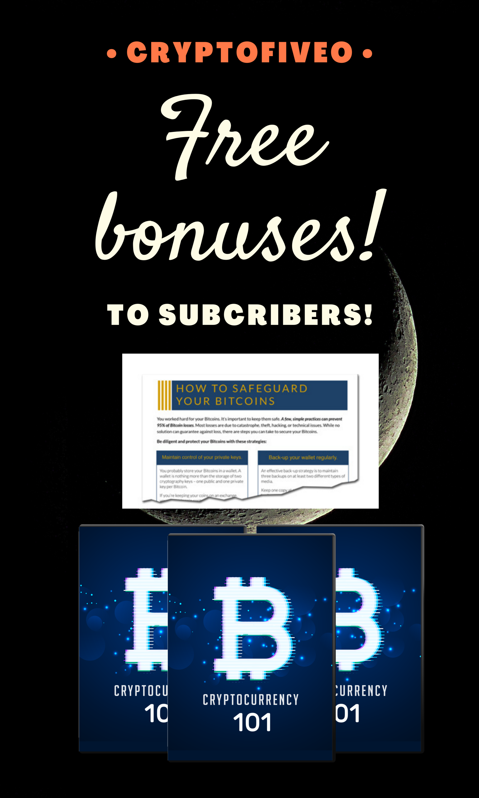 Receive a free article on how to safely manage your cryptocurrency and also a free video course about crypto assets.