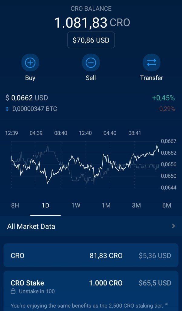 Crypto-asset wallet in the Crypto..com app