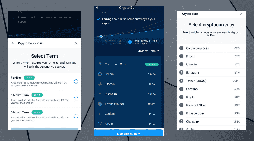 How to stake CRO Coin in the Crypto.com app