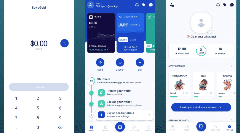 Maiar app - buy, store, and send eGld cryptocurrency