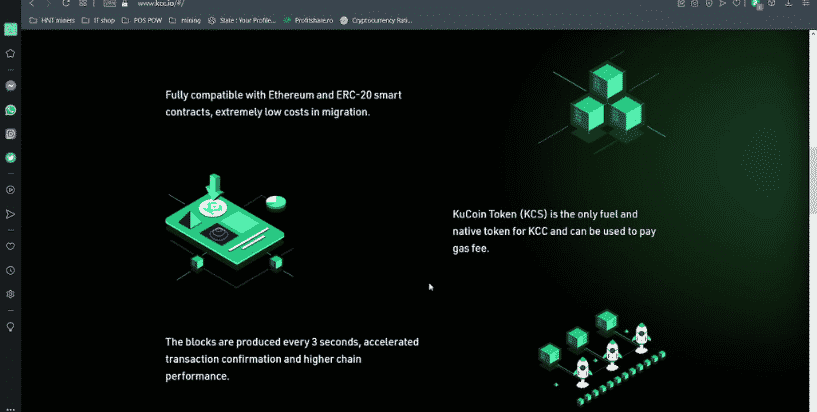 Kucoin token used for gas fees on the Kucoin Community Chain